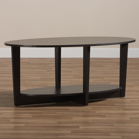 Urban Designs Joyce Wooden Coffee Table in Wenge Brown Finish