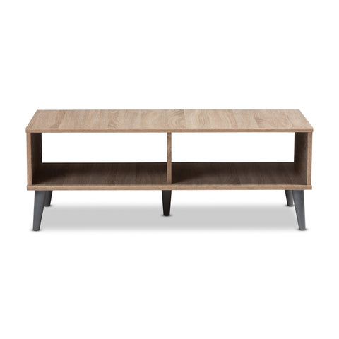 Urban Designs Sterling Wooden Coffee Table in Oak Brown & Dark Grey Finish