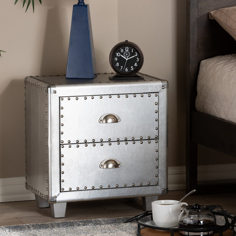 Urban Designs 19-Inch High Industrial Style Metal Nightstand