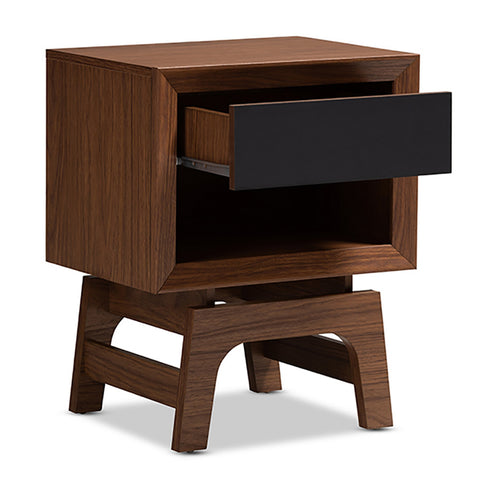 Urban Designs Old TV Style Nightstand With Drawer and Shelf