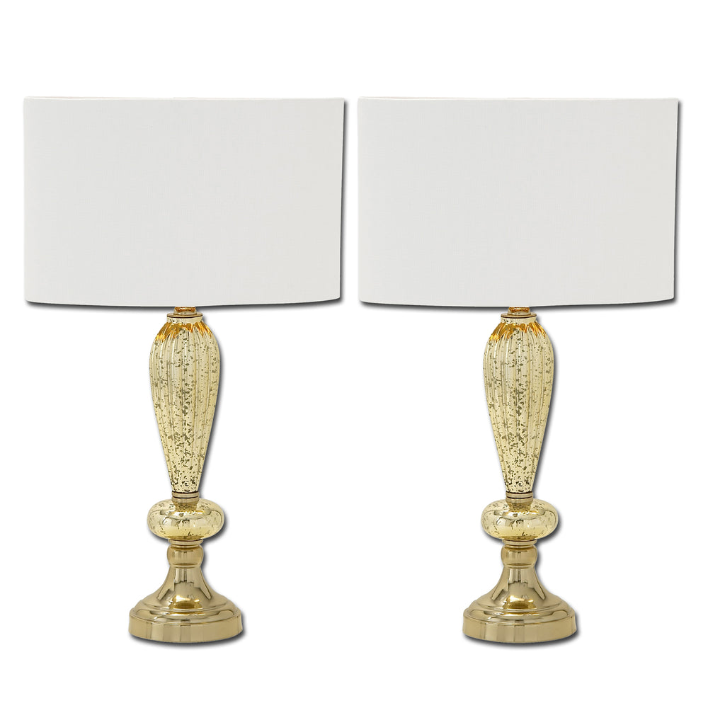 Urban Designs Oval Glass Table Lamps - Set of 2