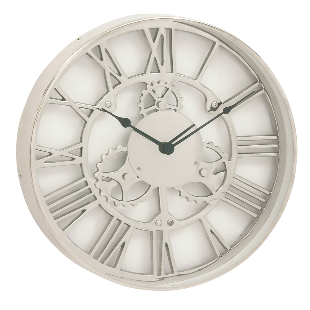 Urban Designs Gear Wheel Collection 18-Inch Aluminum Round Wall Clock