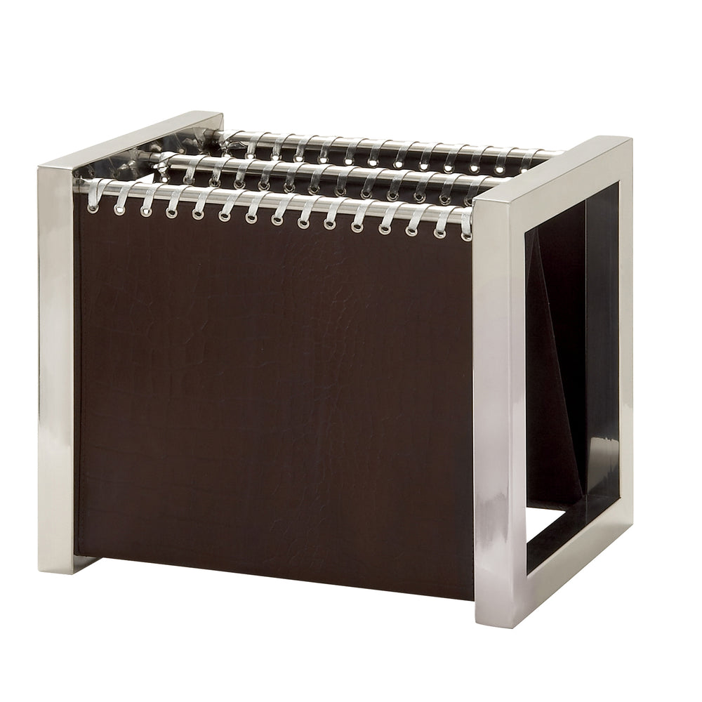 Urban Designs Leather & Steel Magazine Rack