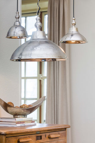 LightMakers UNIKE Hanging Lamp in Raw Nickel Large - Hanging Lamp ANIEK Raw Nickel