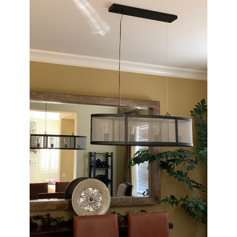 LightMakers 3056412 LANCELOT Hanging Lamp, Black