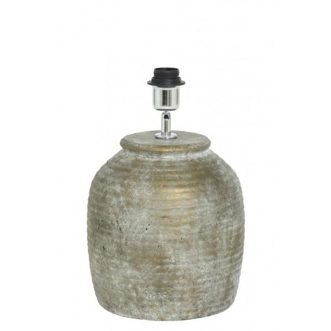 Urban Designs Handcrafted Ceramic Pot Table Lamp in Distressed Bronze