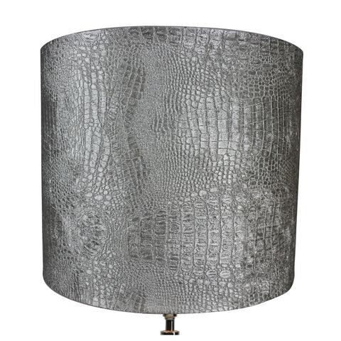 Urban Designs Merlin 31-Inch Cylindrical Tower Nickel Table Lamp