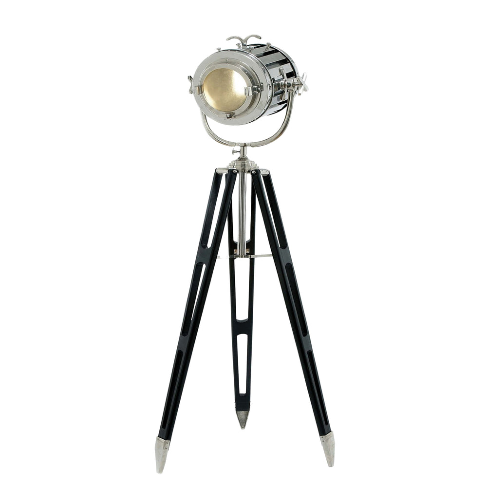 Urban Designs Hollywood Studio 6-Feet Director's Spotlight Black Tripod Floor Lamp
