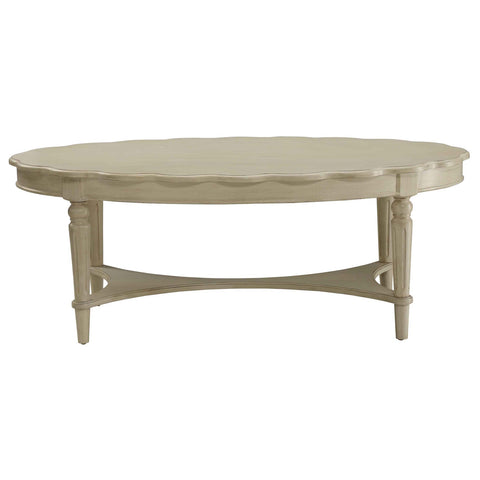 "Urban Designs Devine 50"" L Coffee Table - Antique White"