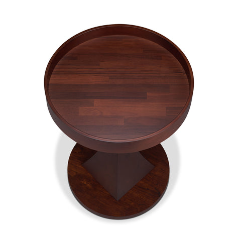 Urban Designs Brandon Pedestal End Table - Walnut