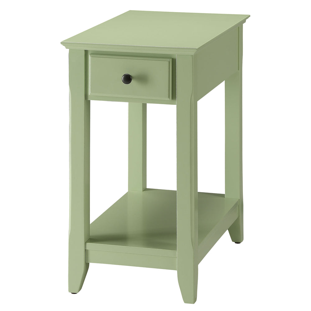 Urban Designs Bega Wooden Accent Side Table - Light Green