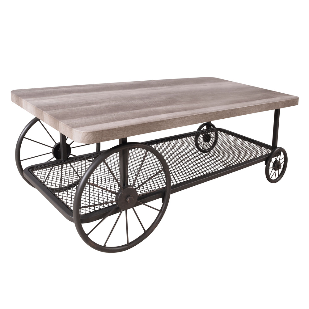Urban Designs Industrial Style Coffee Table - Oak Antique Grey
