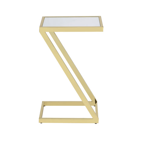 Urban Designs Pierce Accent Side Table - Mirror and Gold