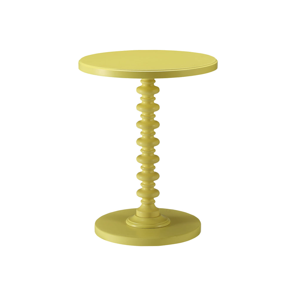 Urban Designs Kostka Wooden Accent Side Table - Yellow
