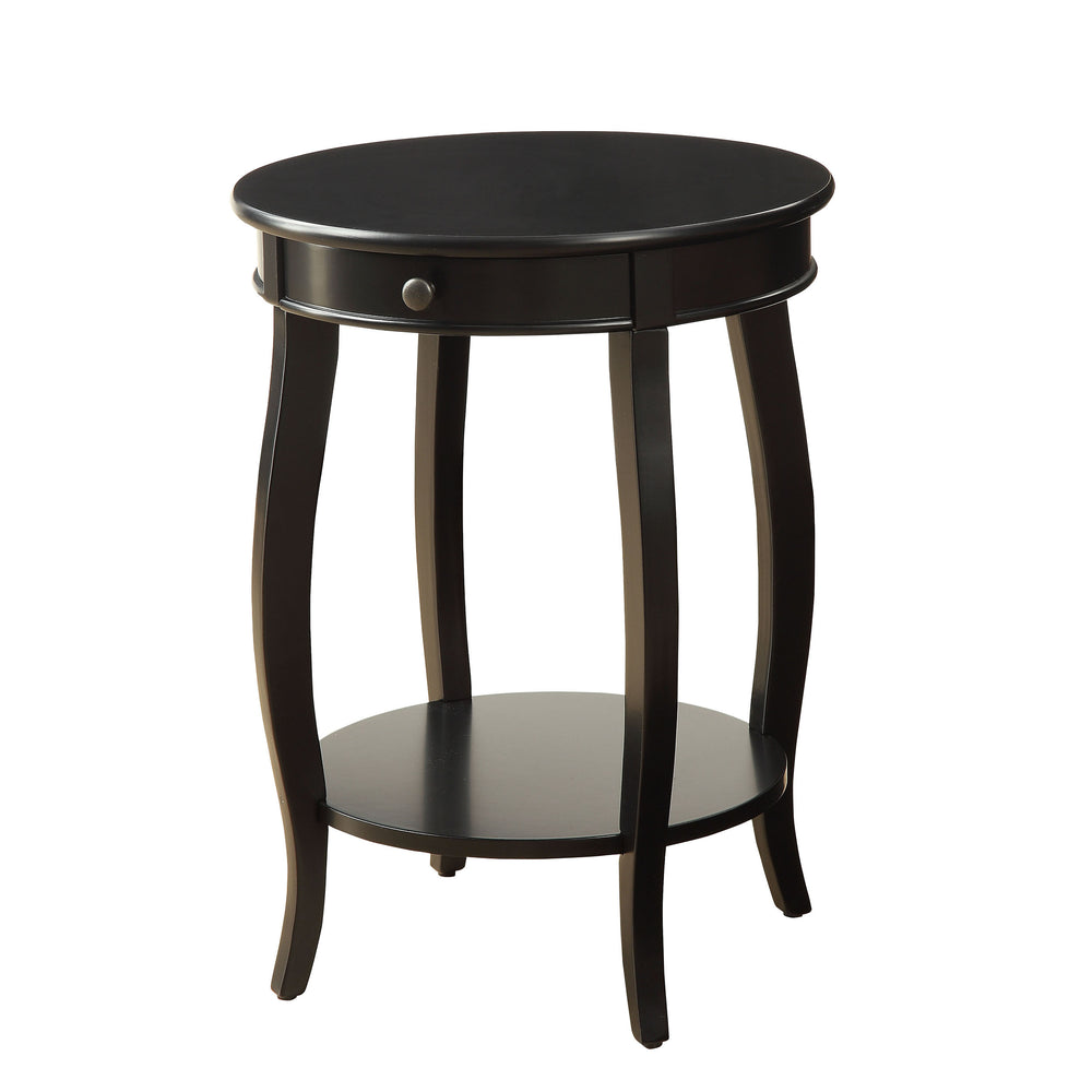 Urban Designs Alba Wooden Accent Side Table - Black