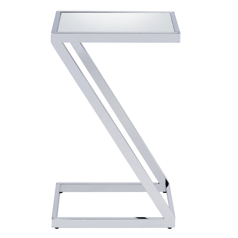 Urban Designs Pierce Accent Side Table - Mirror and Chrome