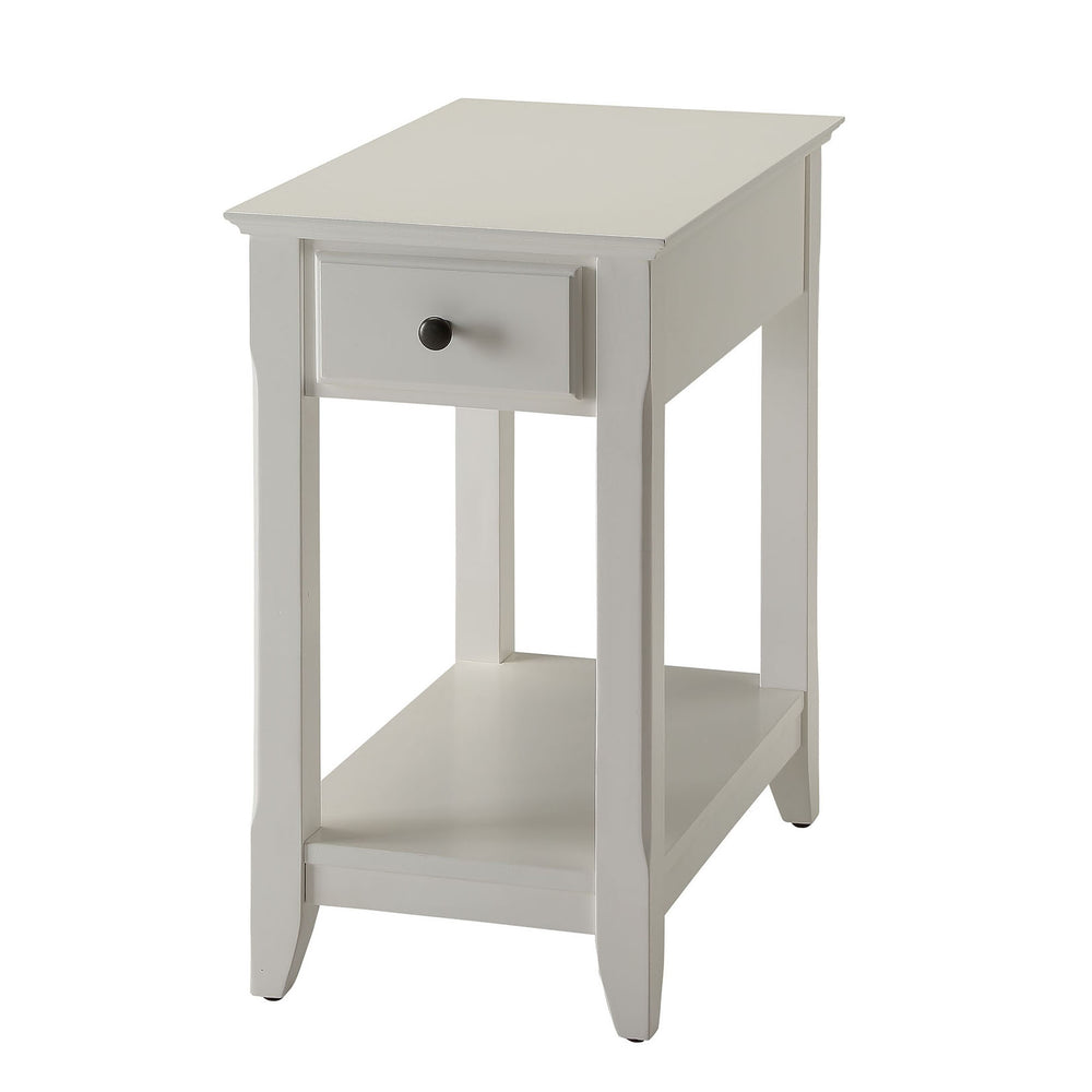 Urban Designs Bega Wooden Accent Side Table - White