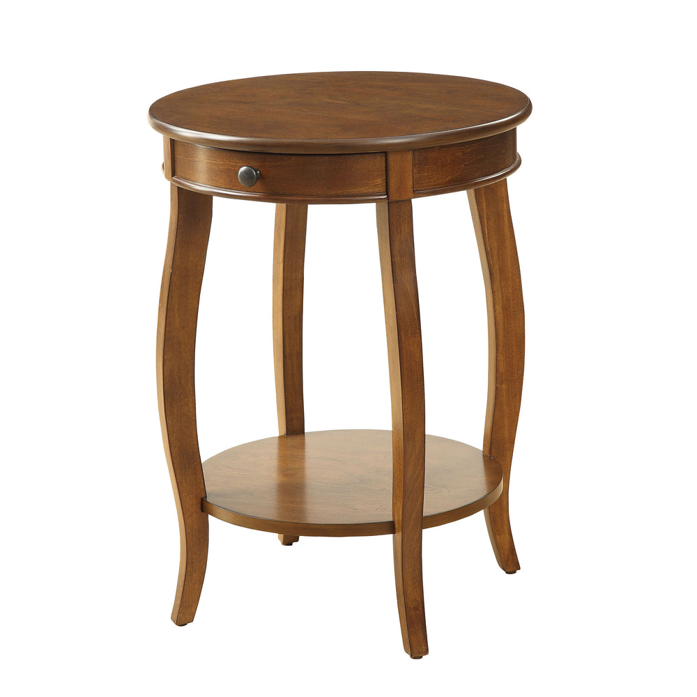 Urban Designs Alba Wooden Accent Side Table - Walnut Brown