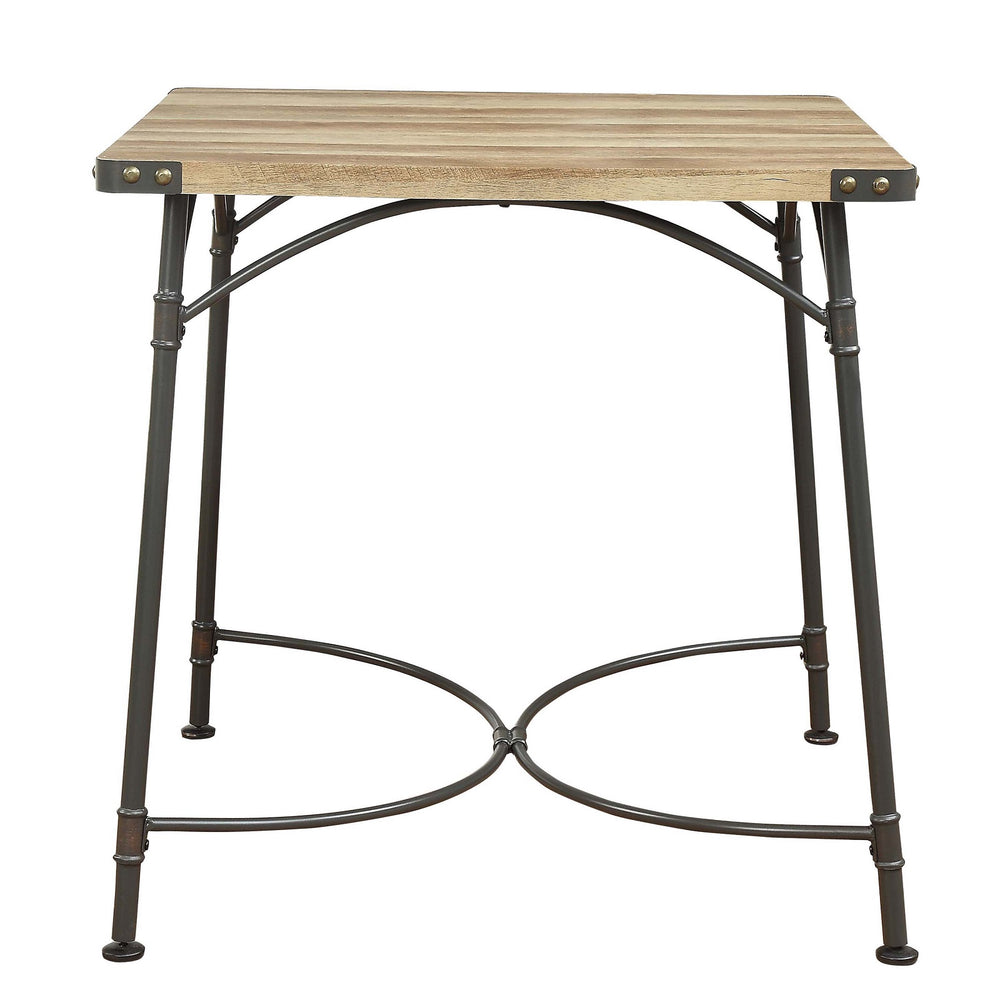 "Urban Designs 36"" H Metal And Solid Wood Counter Height Table"