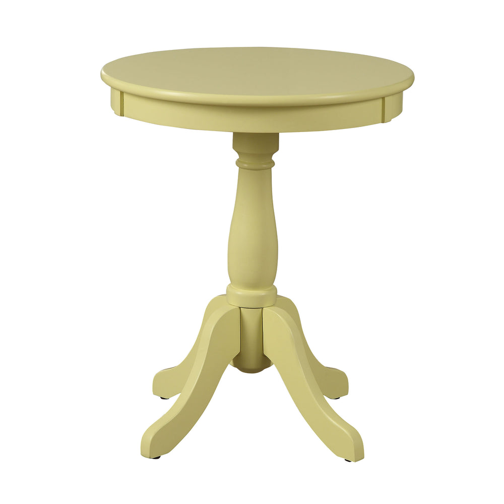 Urban Designs Alanis Wooden Accent Side Table - Light Yellow