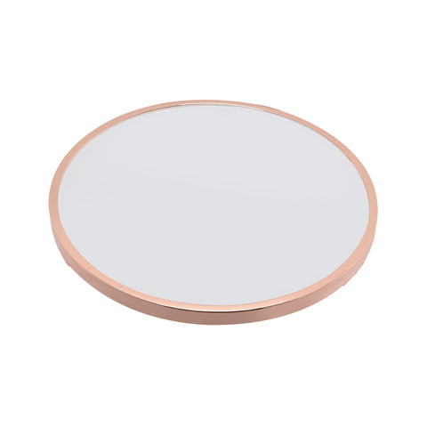 Urban Designs Halo Accent Side Table - Frosted Glass and Rose Gold