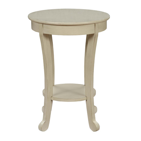 Urban Designs Medan Wooden Accent Side Table - Antique White