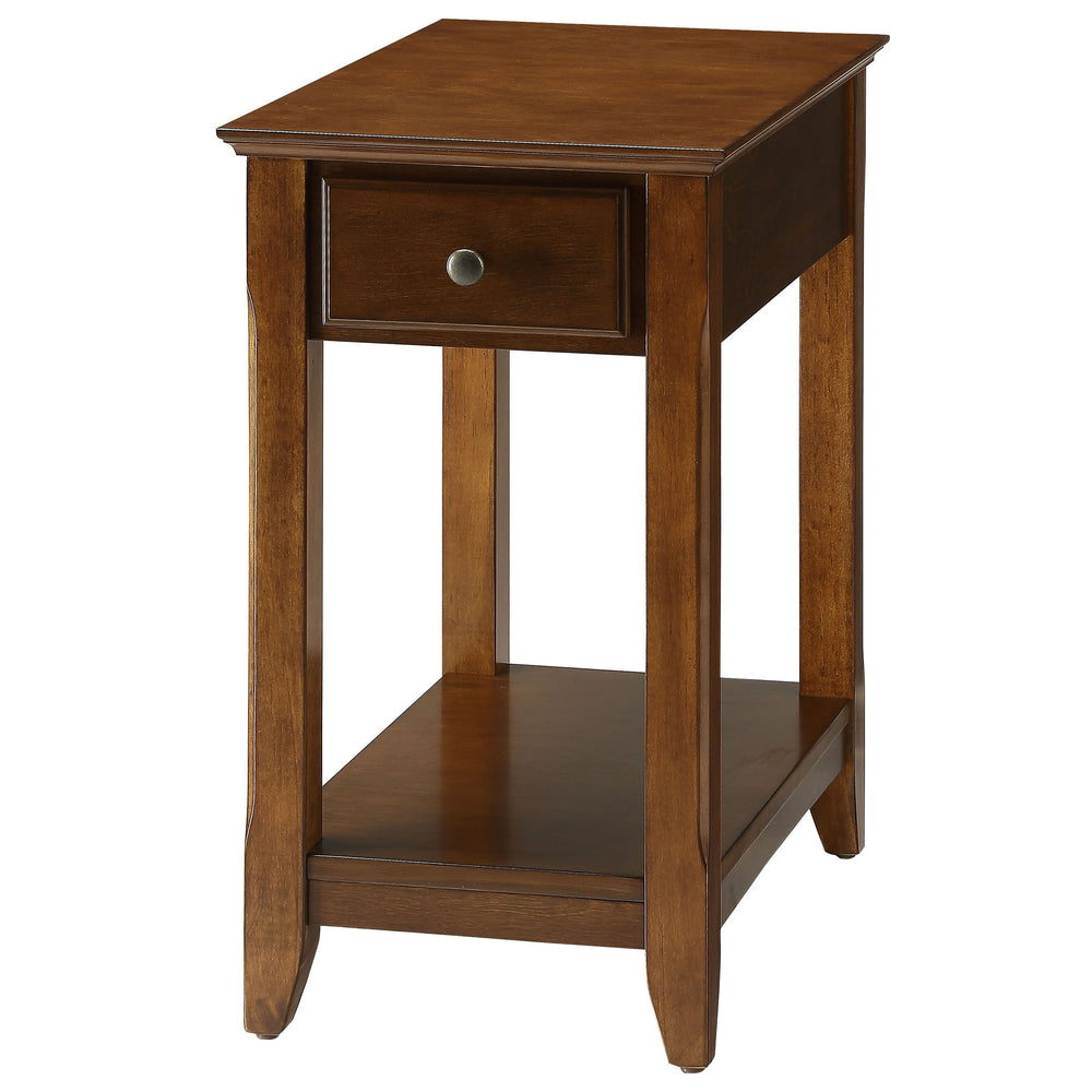 Urban Designs Bega Wooden Accent Side Table - Walnut