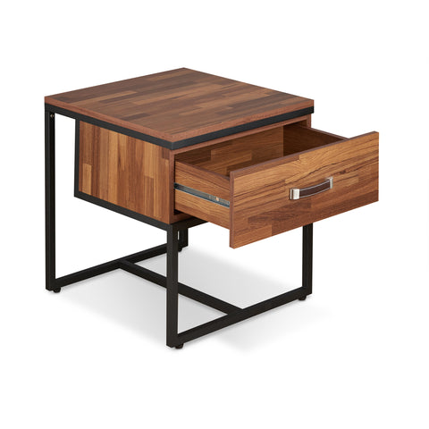 Urban Designs Parquet Collection End Table - Walnut