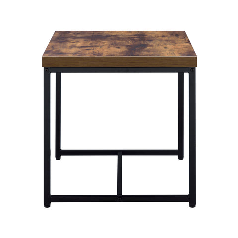 Urban Designs Alaterra End Table - Weathered Oak
