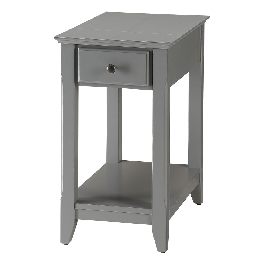Urban Designs Bega Wooden Accent Side Table - Gray