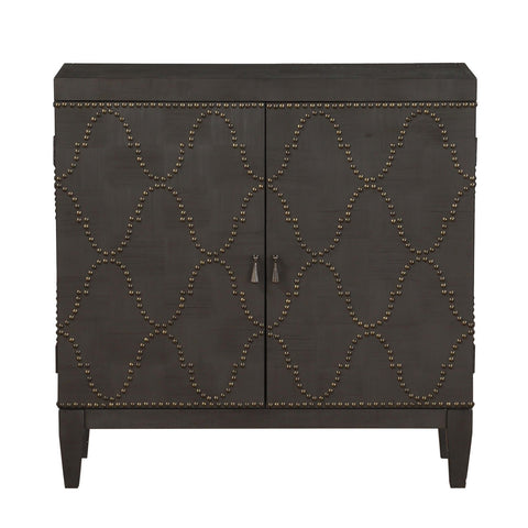 Urban Designs Nailhead Pattern Console Table - Antique Black