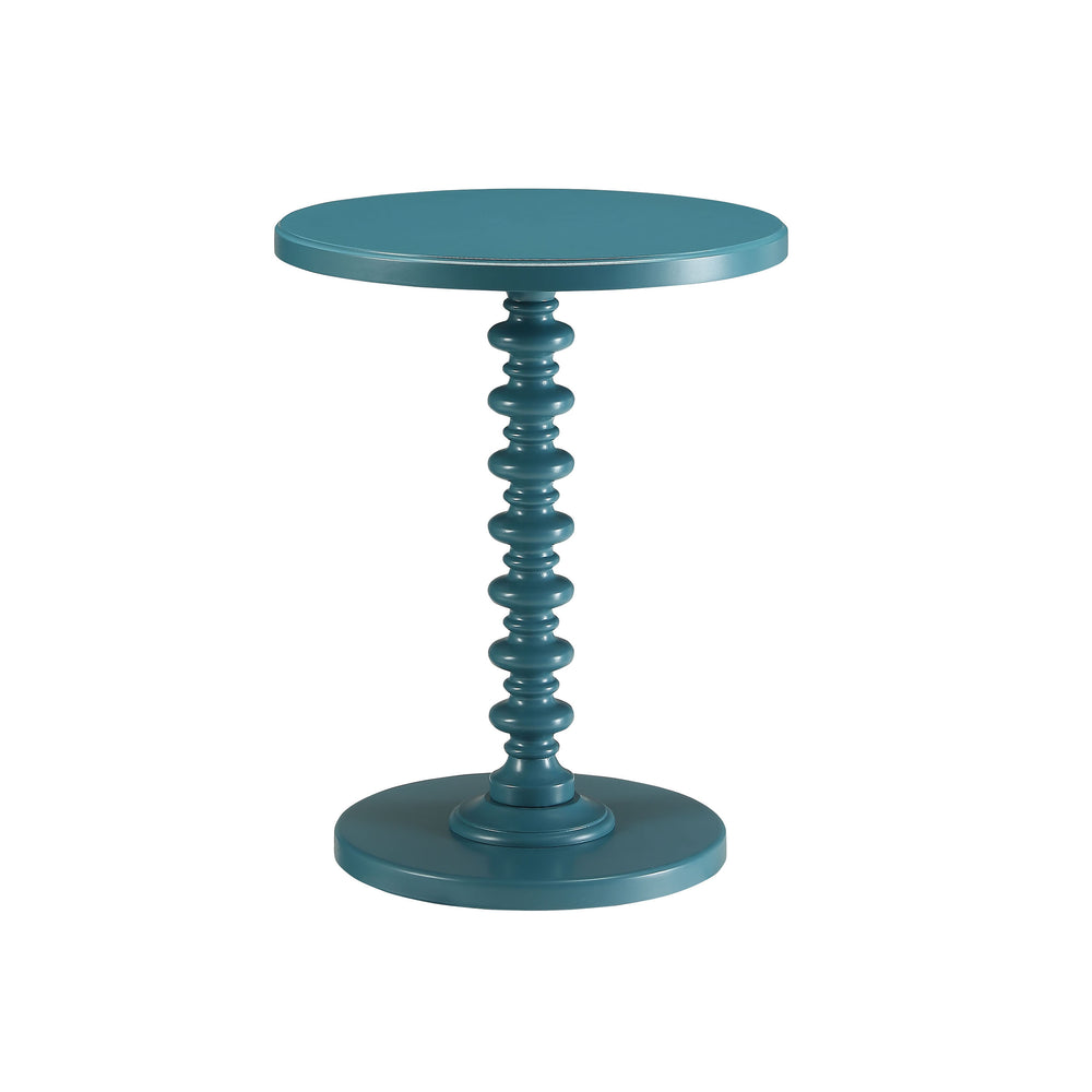 Urban Designs Kostka Wooden Accent Side Table - Teal