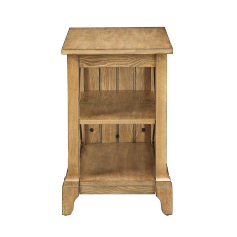 Urban Designs French Provincial Design 3-Tier End Table - Oak