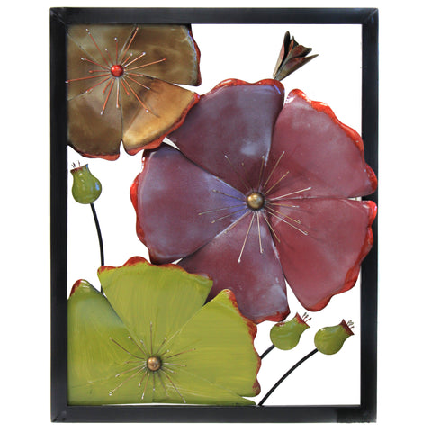 Urban Designs 'Spring Flower Blossom' 3D Metal Wall Art (Set of 2)