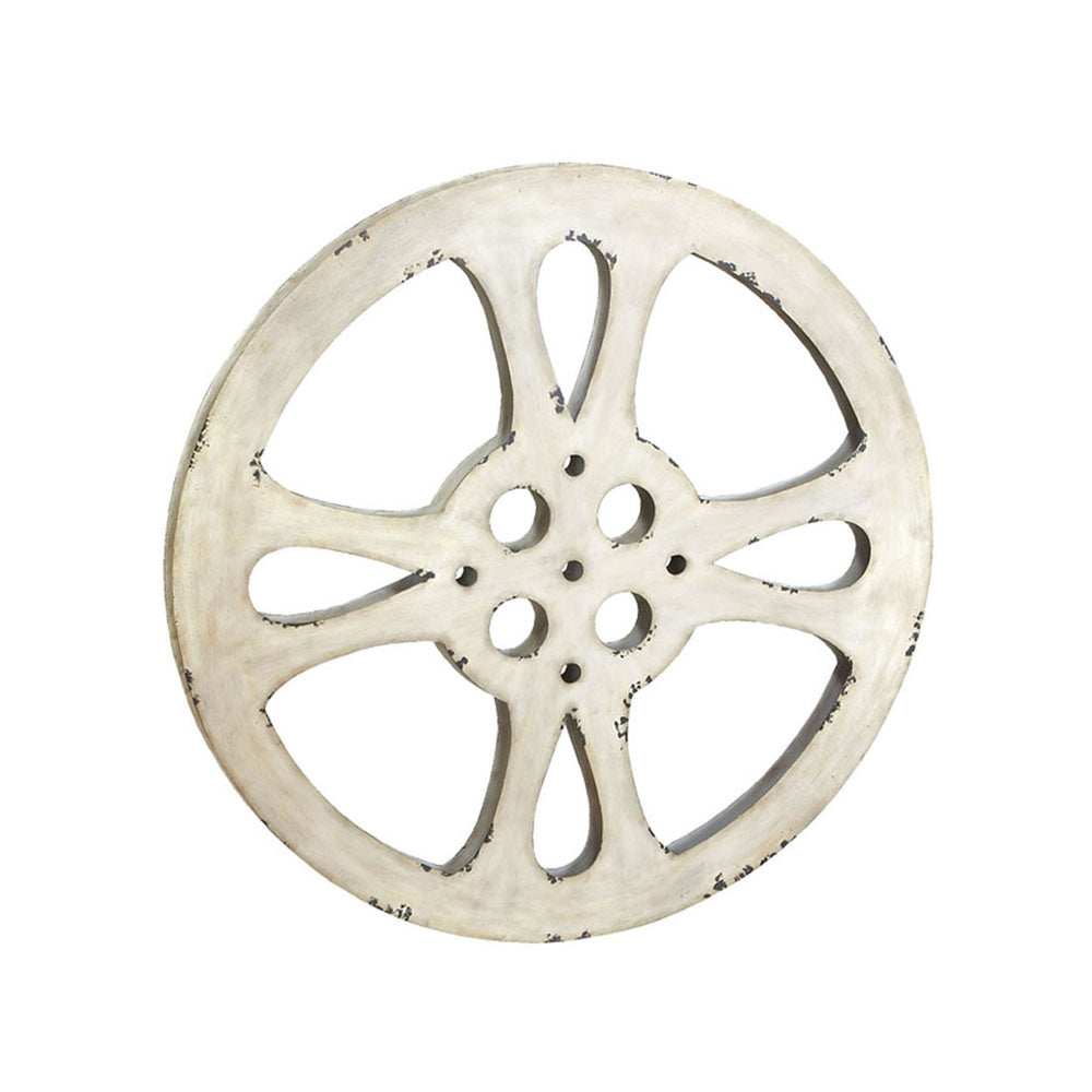 "Urban Designs Hollywood Vintage 42"" Metal Film Reel Home Movie Theater Accent Decor Wall Art"