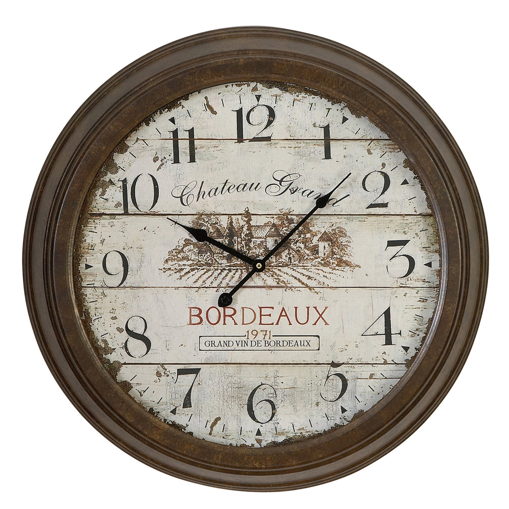Urban Designs Chateau Grand Weathered Vintage Classic Wall Clock