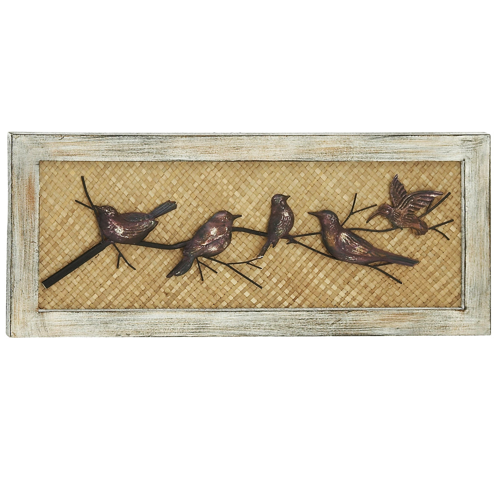 Urban Designs Iron Birds Metal and Wood Wall Decor