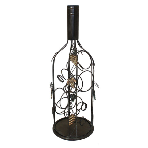Urban Designs Bottle Shaped Metal Wine Rack - 4 Bottle Display