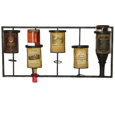 Urban Designs Vineyard Selections Wall Mounted Wine Rack - 5 Bottle Display