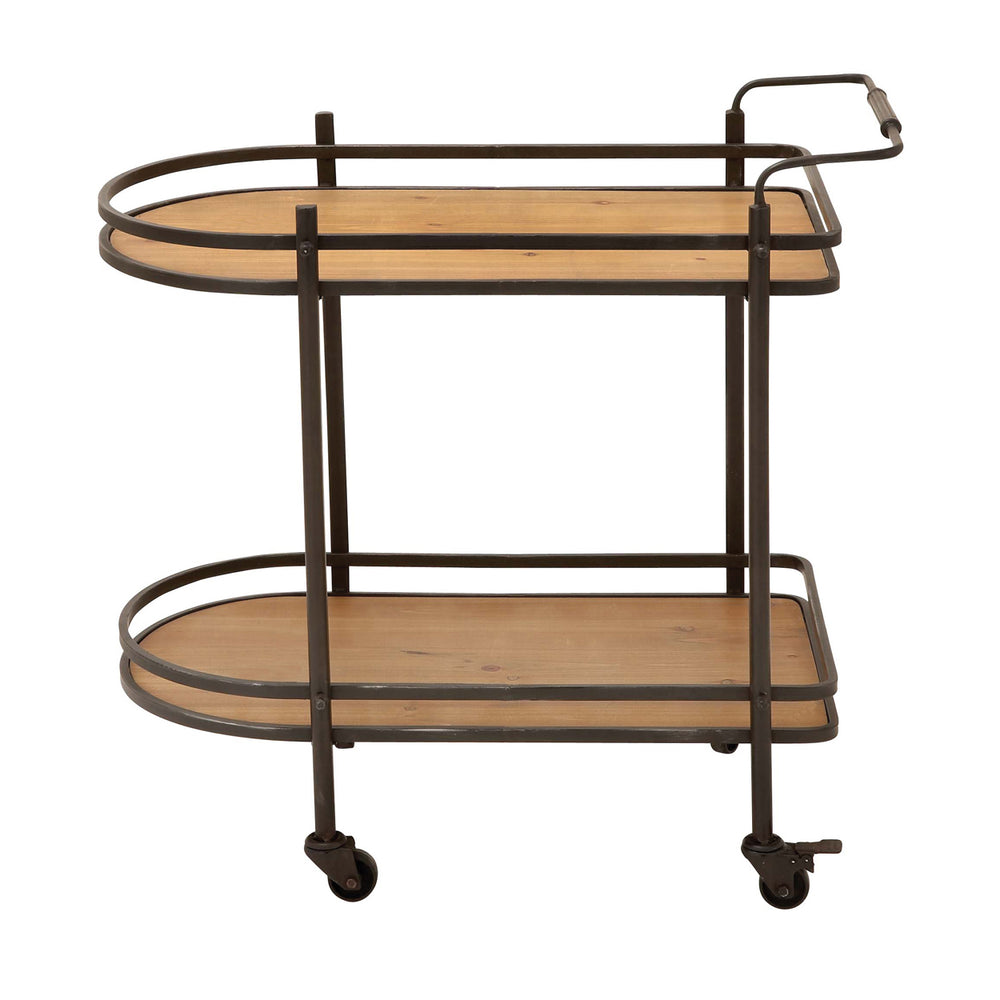 Urban Designs Contemporary Rolling Mobile Tea, Serving and Kitchen Bar Cart