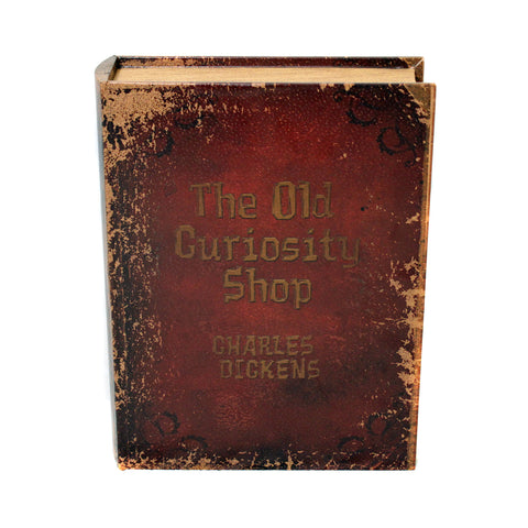Urban Designs 3-Piece Wood & Leather Book Safe Set - The Old Curiosity Shop by Charles Dickens