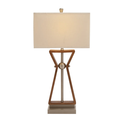 Urban Designs The Master 2-outlet Wood and Steel Table Lamps - Set of 2