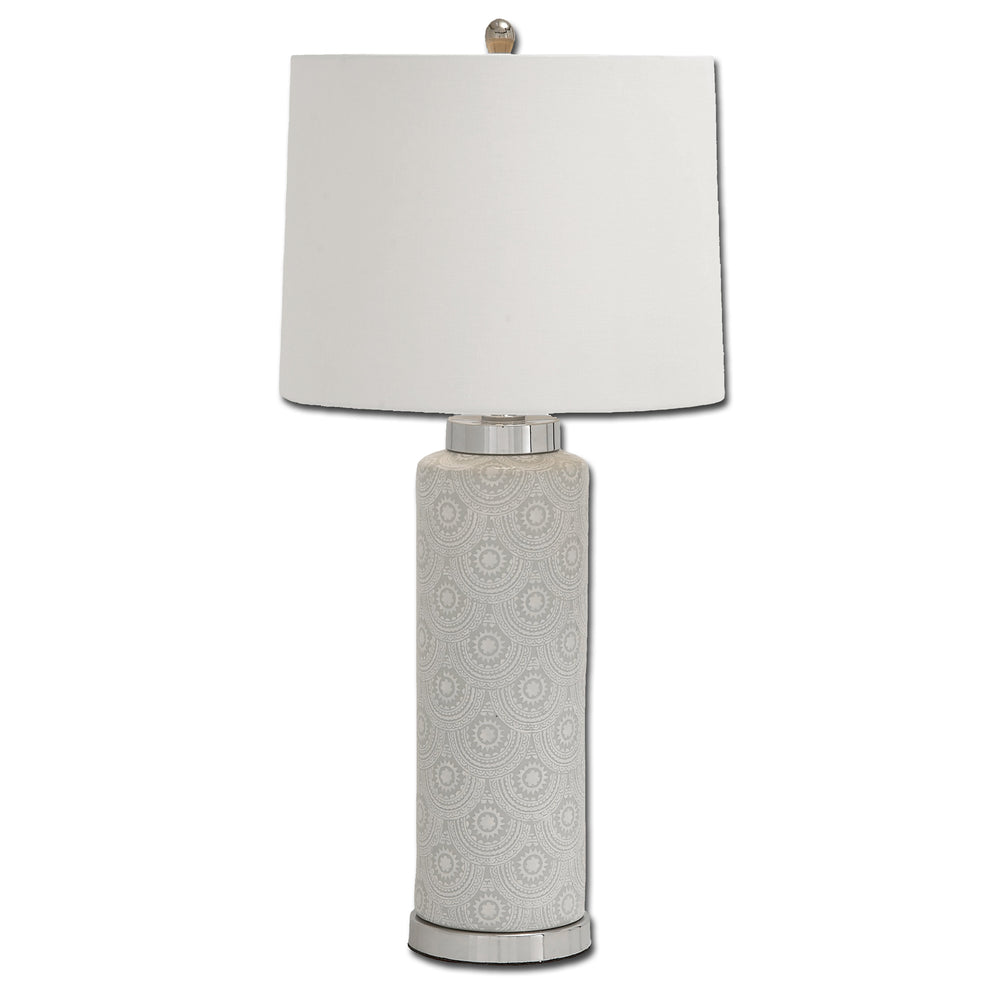 Urban Designs Artisan Scallop Design Tall Ceramic Table Lamp