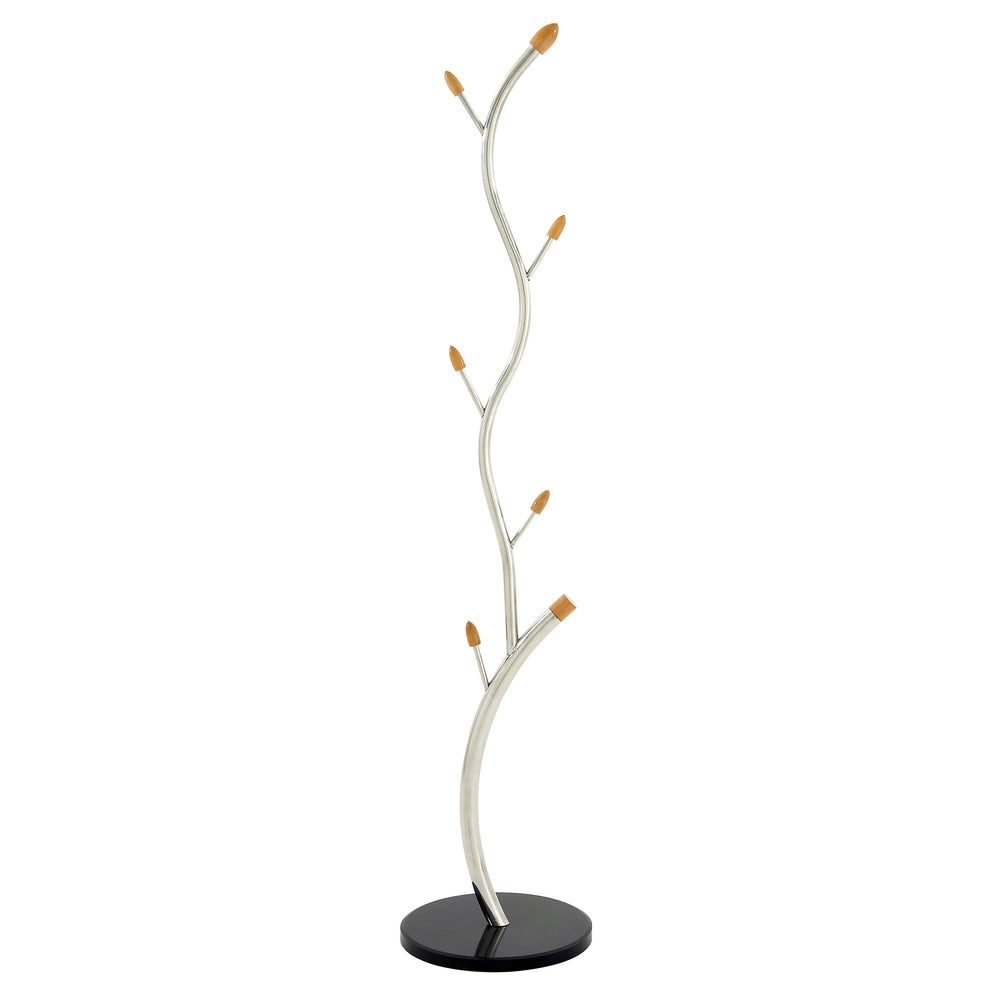 "Urban Designs Twisted Tree 67"" Marble Base Coat Rack - 6 Hooks"