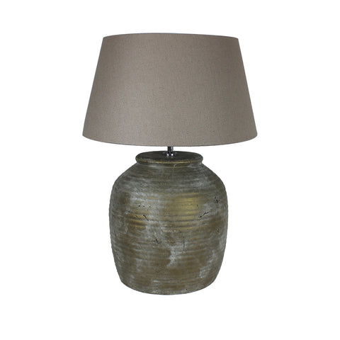 Urban Designs 22-Inch Antique Bronze Gray Wash Ceramic Table Lamp