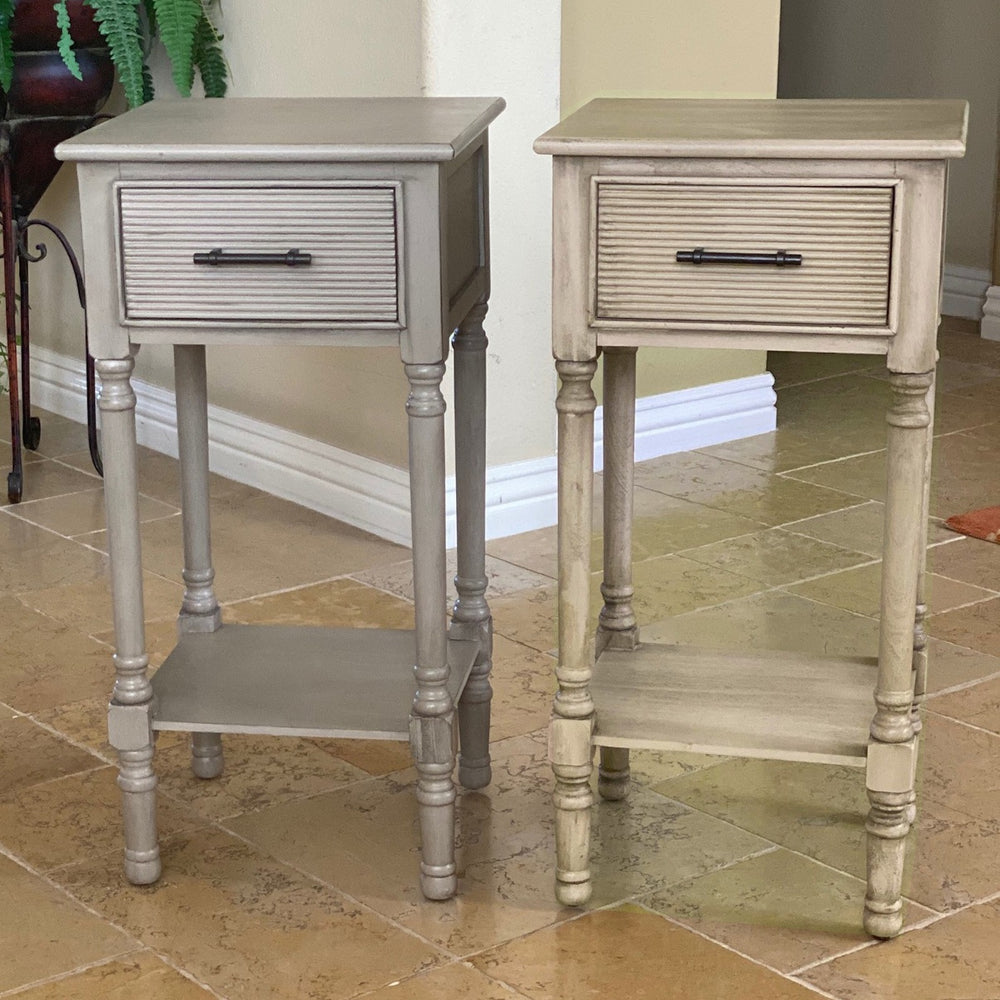 Urban Designs French Country End Accent Table With Storage