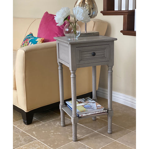 Urban Designs Venice End Accent Table With Storage