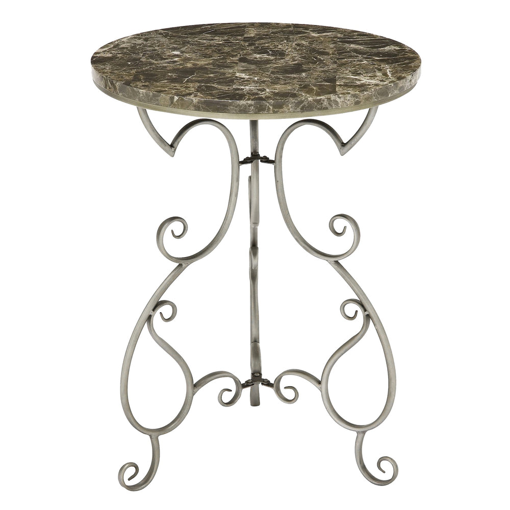"Urban Designs 27"" Faux Marble Top Round Accent Table"