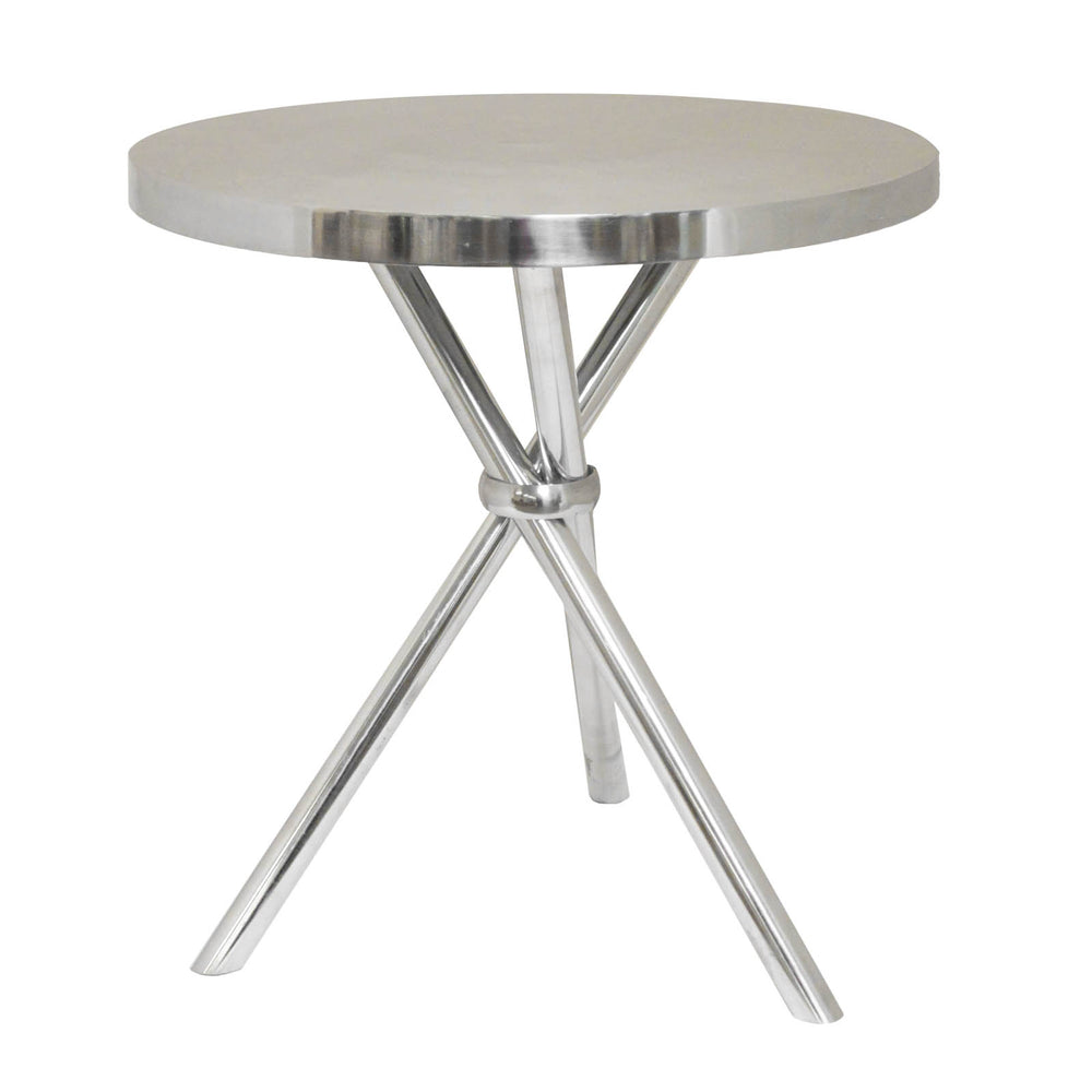 Urban Designs Mikayla Aluminum Oval Accent Table