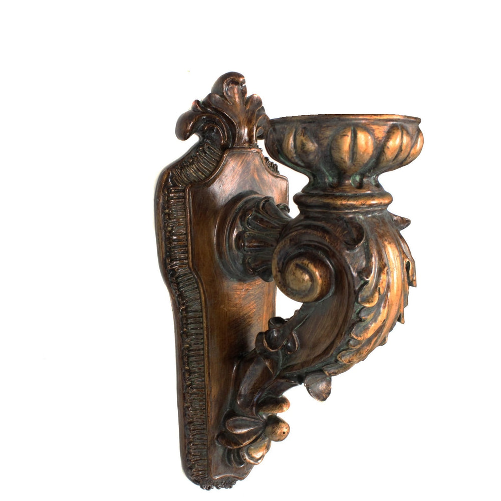 Urban Designs Antique Replica Rusted Wall Sconce Candle Holder